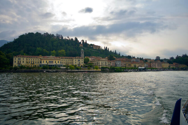 Bellagio on Lake Como view from the boat