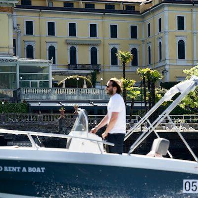 Surfing in front of Villa Serbelloni Grand Hotel Bellagio